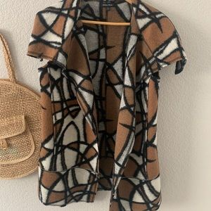 Athena Marie Abstract Wool Blend Vest